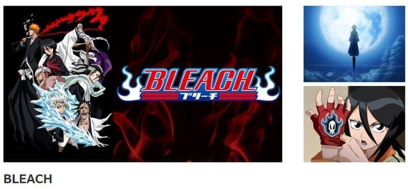 dアニメストアで配信しているアニメ「BLEACH」