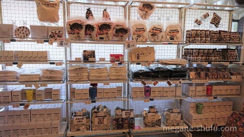コーチャンフォー新川通り店で開催された「名探偵コナンカフェ2019」 グッズ売り場